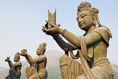 Statues near tian tan buddha - p9246132f by Image Source