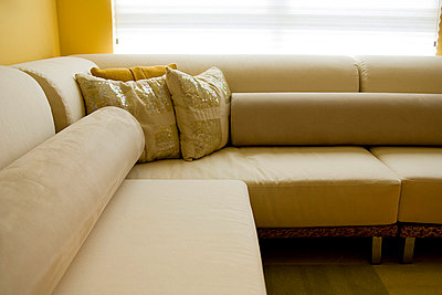 Detail of Contemporary Sofa in Living Room - p5550278f by LOOK Photography