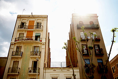 Two Apartment Buildings, Barcelona, Spain - p6944693 by Noll Images