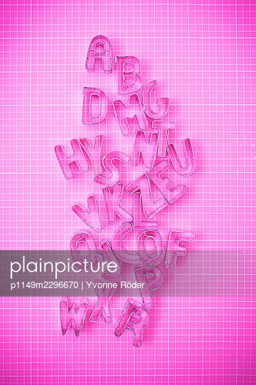 Alphabet cookie cutters - p1149m2296670 by Yvonne Röder