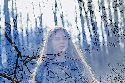 Girl in spring forest - p1412m1553102 by Svetlana Shemeleva