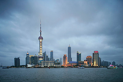 Pudong district and the Oriental Pearl Tower, Shanghai, China, Asia - p8712710 by Angelo Cavalli