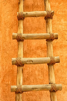The Palace Museum, Al-Ain, Abu Dhabi, UAE - a magical place to visit (Al Ain). Detail of a wooden staircase - p343m1151067 by David Santiago Garcia