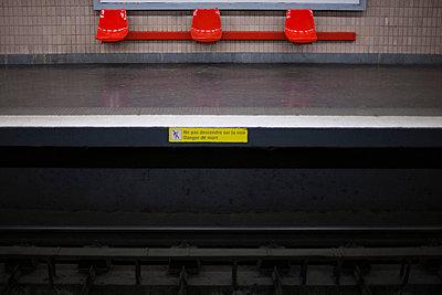 Empty subway platform - p62320142f by Sandro Di Carlo Darsa