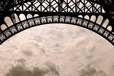 Paris;  part of Eiffeltower - p0030728 by Carolin