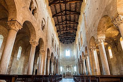 Italy, Tuscany, Montalcino, Interior of Abbey of Sant'Antimo - p1427m1517367 by Sergey Orlov