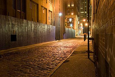 Alley at Night, New York City - p5690005 by Jeff Spielman
