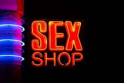 Sex Shop neon sign - p1596m2204669 by Nikola Spasov