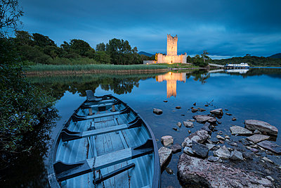 Panoramic of Ross Castle, Killarney National Park, County Kerry, Munster, Republic of Ireland, Europe - p871m2003495 by Roberto Moiola