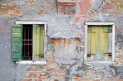 Italy, Venice, Window shutters in an old building - p3006895f by Anja Weber-Decker