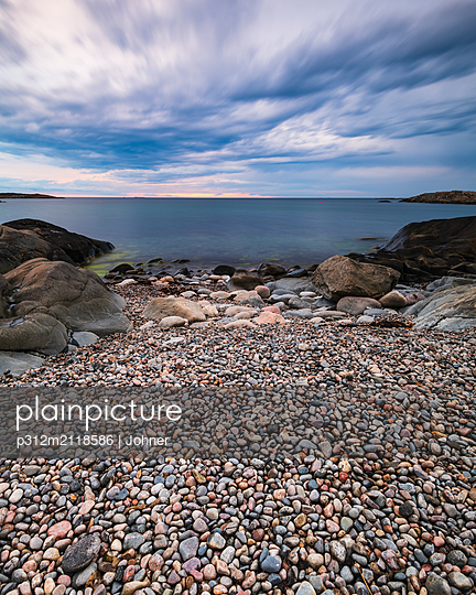 View of rocky coast - p312m2118586 by Johner