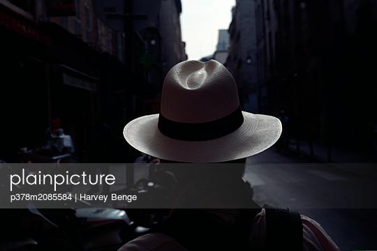 Panama hat - p378m2085584 by Harvey Benge