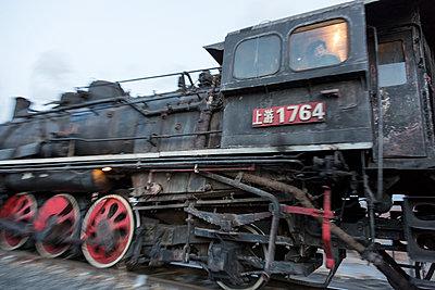 Fahrende Lokomotive - p1208m1007497 von Wisckow