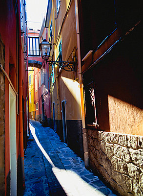 Alley In Village Of Riomaggiore - p644m728117 by Chris Caldicott