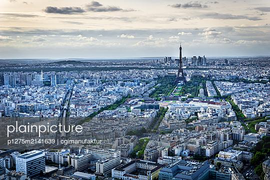 Eiffelturm vom Tour Montparnasse - p1275m2141639 von cgimanufaktur