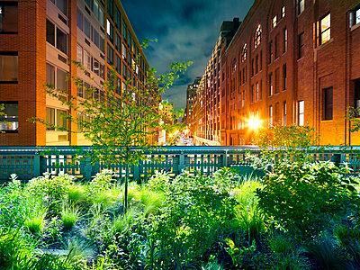 Garten in der Stadt - p416m991236 von Oliver Heinemann