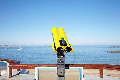 Yellow binoculars - p464m883119 by Elektrons 08