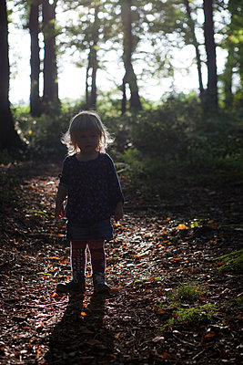 Girl in forest - p505m943456 by Iris Wolf