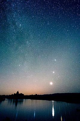Starry sky at night, mono lake, california, usa - p924m711171f by Pete Saloutos