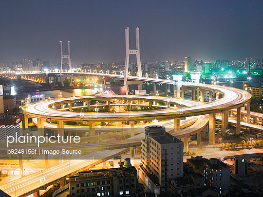 Elevated highway in shanghai - p9249156f by Image Source