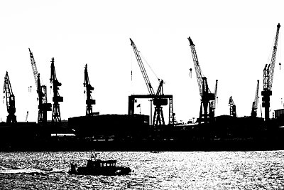 Ferry at Hamburg Harbour - p488m946250 by Bias