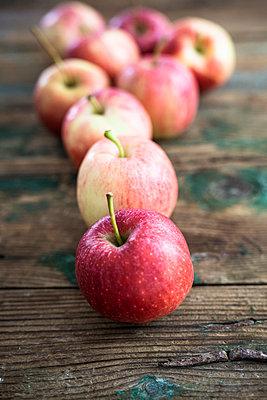 Apples for preparing Apple Pie on wood - p300m2041879 by Giorgio Fochesato