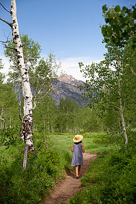 Stroll across birch grove, Utah - p756m2216303 by Bénédicte Lassalle