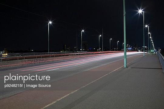 Bridge over rhine river - p9248215f by Image Source