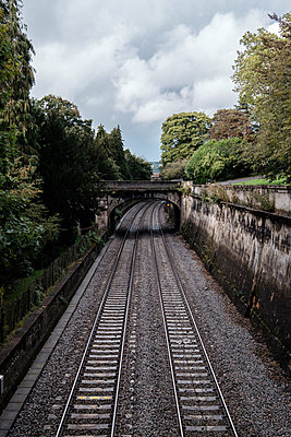 Railroad leading to the city of Bath - p1408m1465055 by Guy Nesher