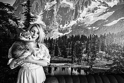 Berge mit Spitz - p858m1215609 von Lucja Romanowska