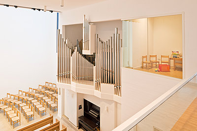 Organ in newly built church - p1119m1424344 by O. Mahlstedt