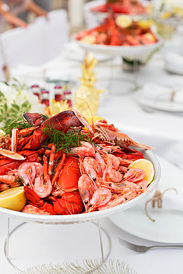 Seafood on plate - p312m1548394 by Johner