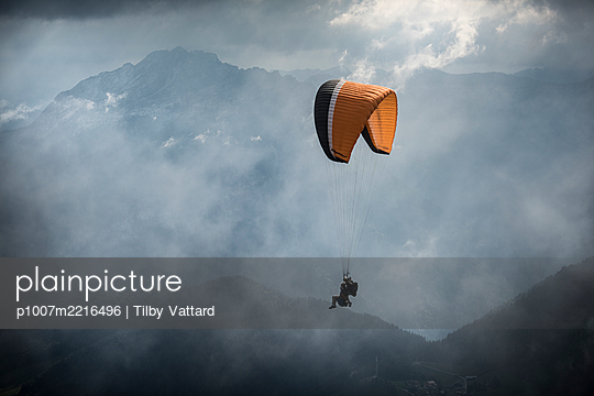France, Aravis, Paragliding in the Alps - p1007m2216496 by Tilby Vattard