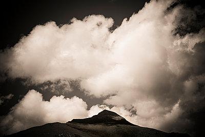 Cloud over a mountain peak. Massif of Sancy. Auvergne. France. - p813m1461280 by B.Jaubert