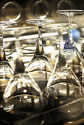Business Jet wine glasses - p1048m1080143 by Mark Wagner