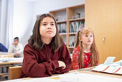 Girl in classroom - p312m2191076 by Scandinav