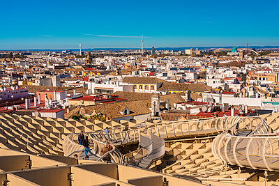 View of Metropol Parasol onto the city of Sevilla, Spain - p1332m2203273 by Tamboly