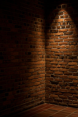 Corner of two brick walls. - p1072m1348967 by Peter Glass