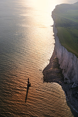 Beachy Head, UK Chalk cliff lighthouse - p1048m1182465 by Mark Wagner