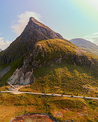 Norway, Landscape in the Lofoten - p1549m2158060 by Sam Green