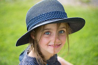 Lovely Blue Hat - p1560m2196337 by Alison Morton