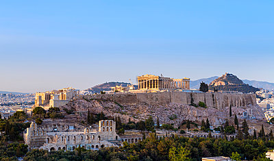 Ruins of the acropolis, Athens, Attiki, Greece, Europe - p429m1477809 by Henglein and Steets
