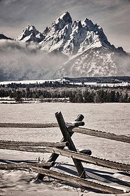 The Teton Mountain Range - p343m1088977 by Marc Pagani