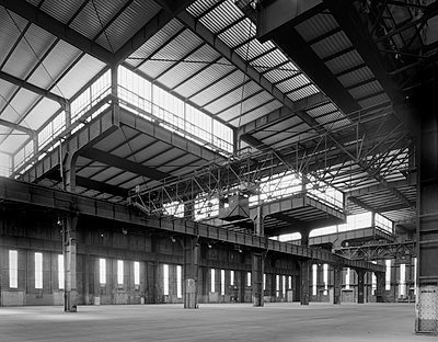 Submarine construction hall Hannoversche Maschinenbau AG - p1119m1424340 by O. Mahlstedt