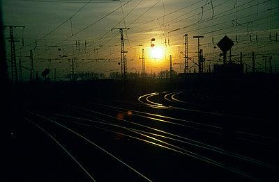 Rails close to Mannheim - p2687412 by Andres Wertheim