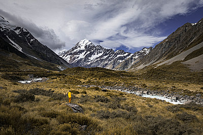 Incredible mountain view in New Zealand - p1166m2123866 by Cavan Images
