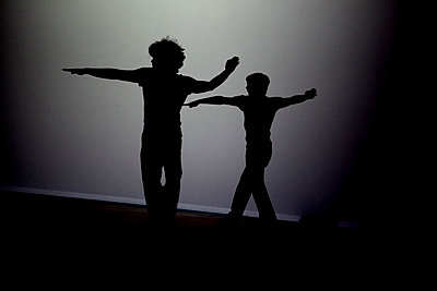Dancers - shadow - p1281m1133556 by Lucie Jean