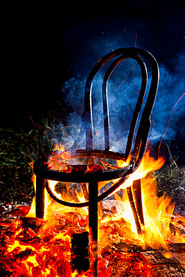 Burning chair - p4130617 by Tuomas Marttila