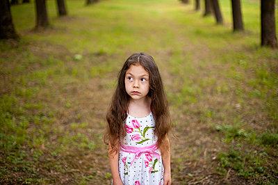 Portrait of a little girl in the park - p1412m1559582 by Svetlana Shemeleva