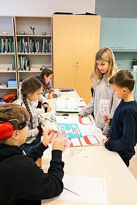 Children in classroom - p312m2174786 by Scandinav